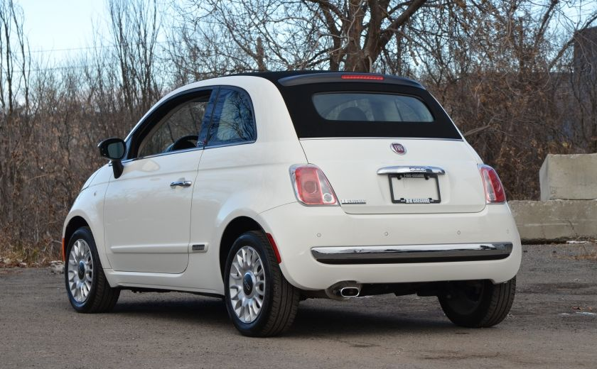 2015 Fiat 500c LOUNGE CONVERTIBLE CUIR A/C AUTO BLUETOOTH AUDIO P #4