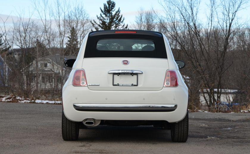 2015 Fiat 500c LOUNGE CONVERTIBLE CUIR A/C AUTO BLUETOOTH AUDIO P #5