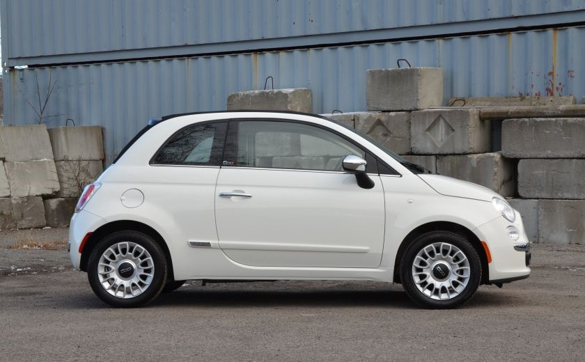 2015 Fiat 500c LOUNGE CONVERTIBLE CUIR A/C AUTO BLUETOOTH AUDIO P #7