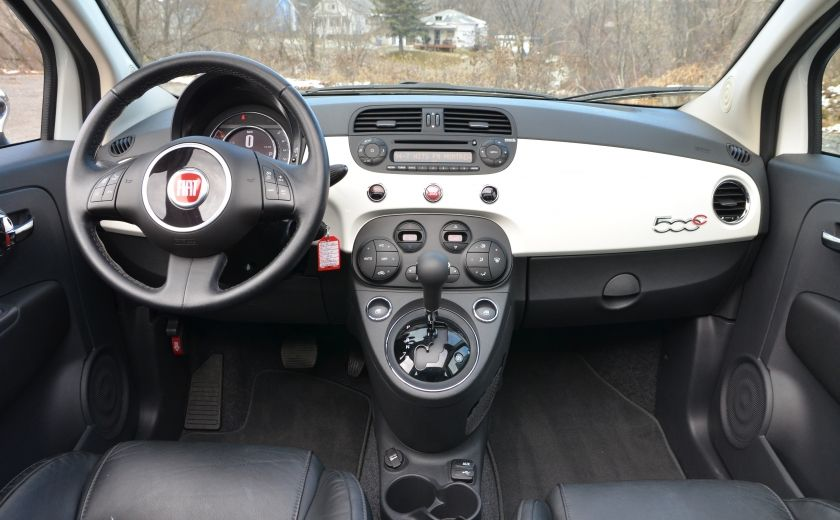 2015 Fiat 500c LOUNGE CONVERTIBLE CUIR A/C AUTO BLUETOOTH AUDIO P #13