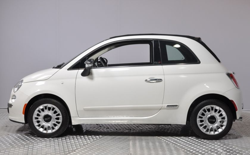 2015 Fiat 500c LOUNGE CONVERTIBLE CUIR A/C AUTO BLUETOOTH AUDIO P #3