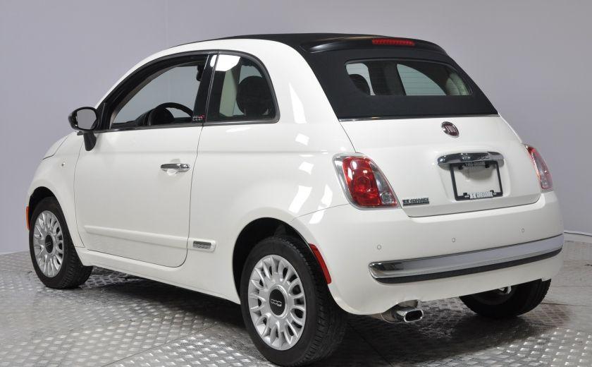 2015 Fiat 500c LOUNGE CONVERTIBLE CUIR A/C AUTO BLUETOOTH AUDIO P #4