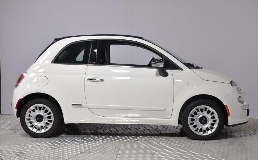 2015 Fiat 500c LOUNGE CONVERTIBLE CUIR A/C AUTO BLUETOOTH AUDIO P #7