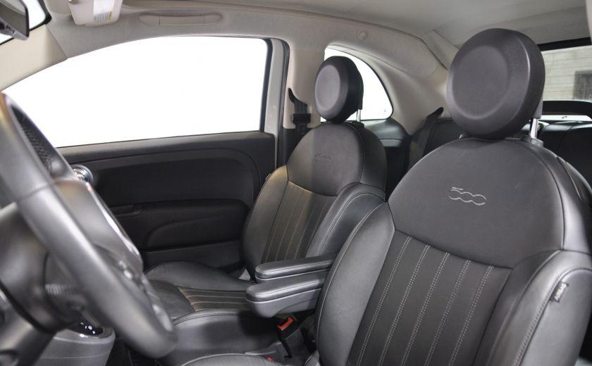2015 Fiat 500c LOUNGE CONVERTIBLE CUIR A/C AUTO BLUETOOTH AUDIO P #9