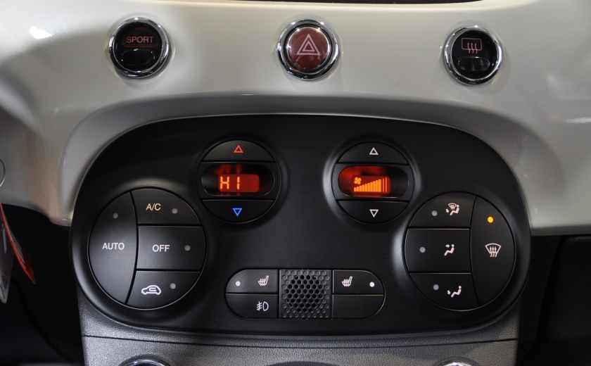 2015 Fiat 500c LOUNGE CONVERTIBLE CUIR A/C AUTO BLUETOOTH AUDIO P #17