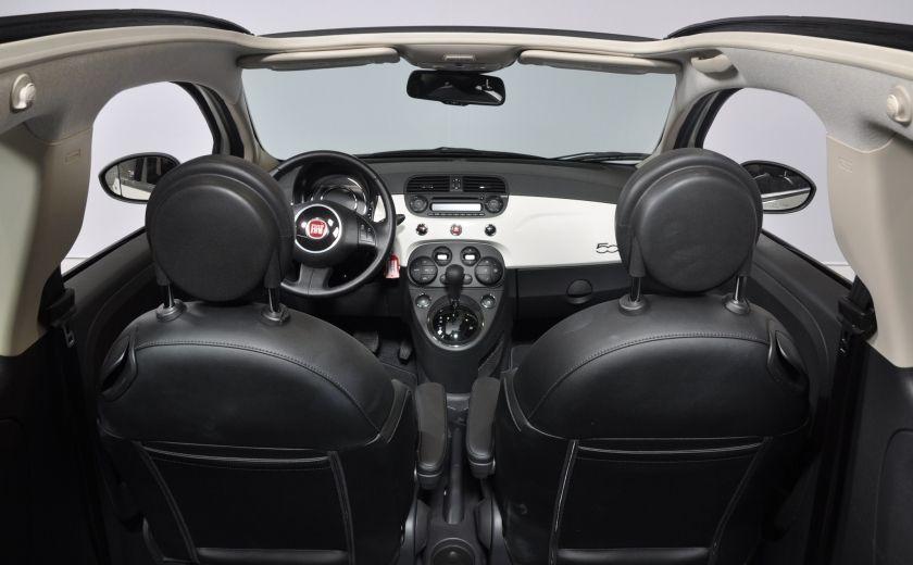 2015 Fiat 500c LOUNGE CONVERTIBLE CUIR A/C AUTO BLUETOOTH AUDIO P #28