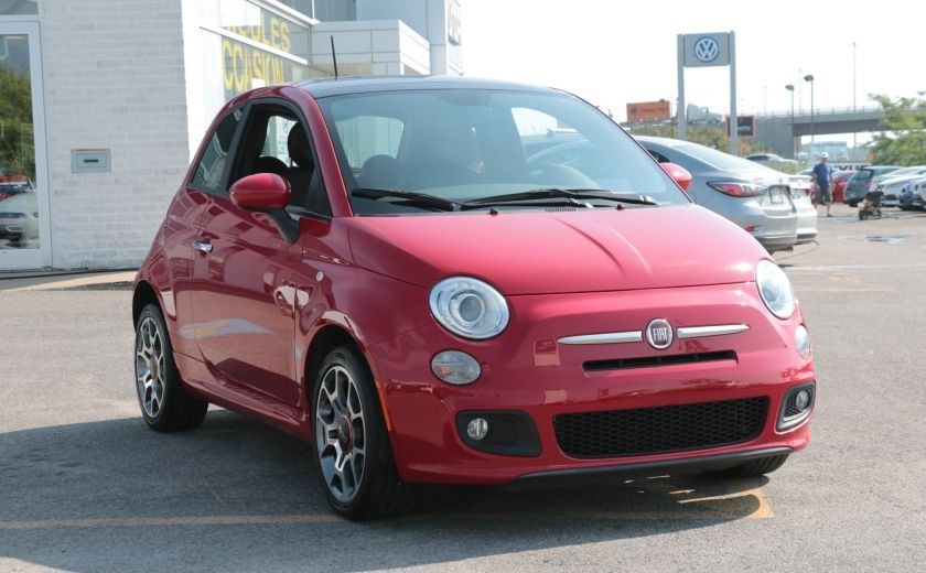 2012 Fiat 500 Sport TOIT CUIR MAGS BLUETOOTH #0