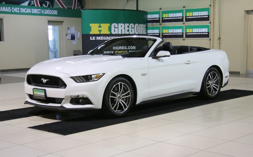 2015 Ford Mustang CONVERTIBLE GT PREMIUM AUTO A/C CUIR NAV #2