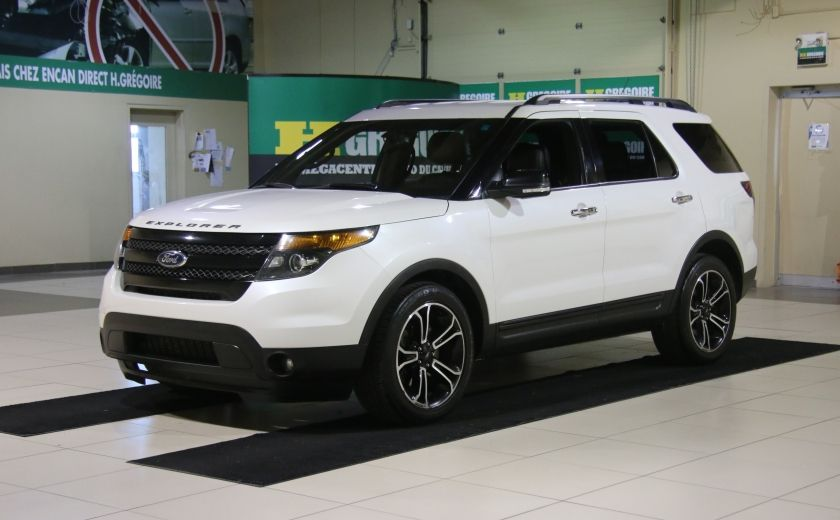 2013 Ford Explorer Sport 4WD CUIR MAGS 7PASSAGERS #2