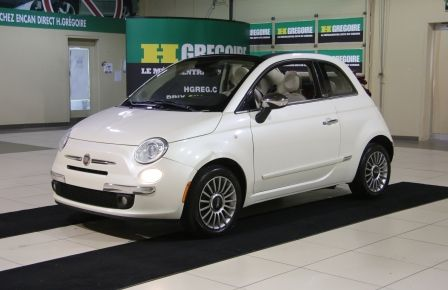 2013 Fiat 500 Lounge AUTOMATIQUE A/C MAGS BLUETHOOT CUIR in Saint-Jérôme