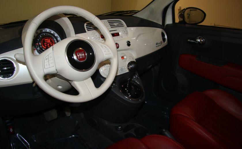 2013 Fiat 500 Lounge AUTOMATIQUE A/C MAGS BLUETHOOT CUIR #9
