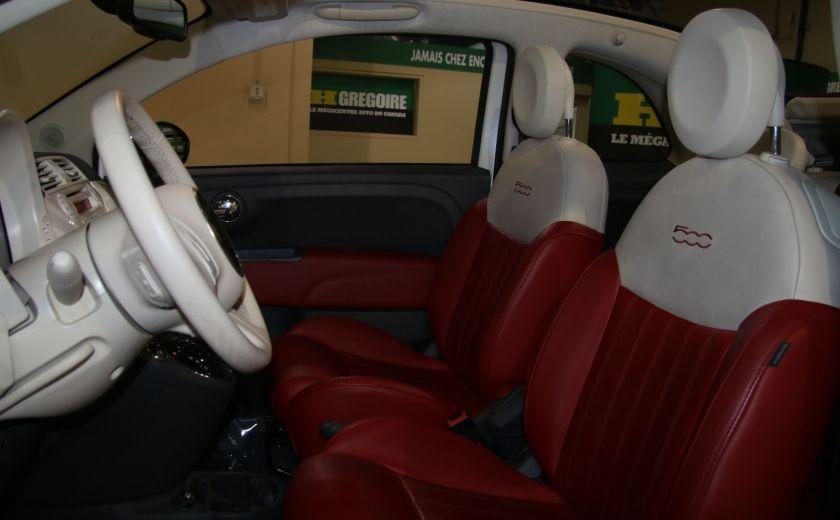 2013 Fiat 500 Lounge AUTOMATIQUE A/C MAGS BLUETHOOT CUIR #10