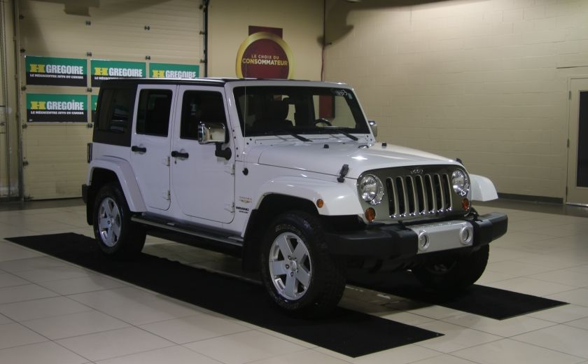 2012 Jeep Wrangler Sahara 4WD AUTO A/C 2TOITS CUIR #0