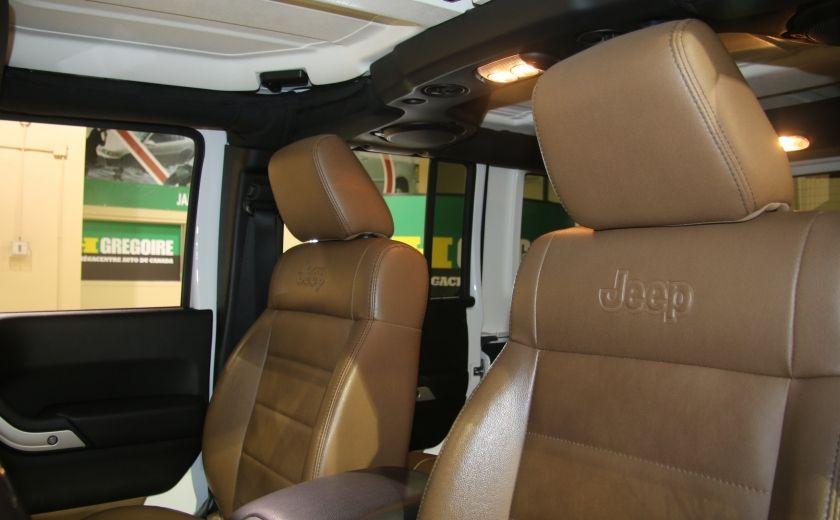 2012 Jeep Wrangler Sahara 4WD AUTO A/C 2TOITS CUIR #4