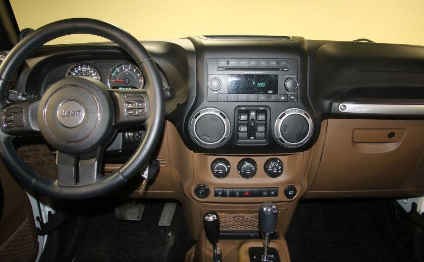 2012 Jeep Wrangler Sahara 4WD AUTO A/C 2TOITS CUIR #5