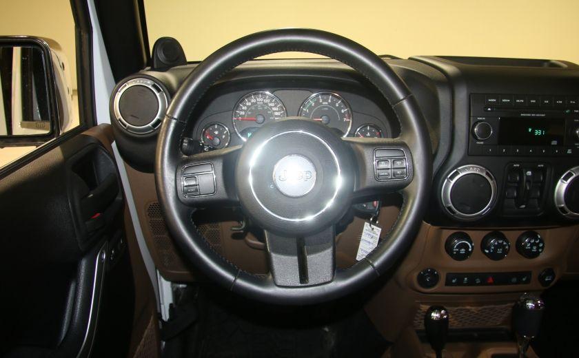 2012 Jeep Wrangler Sahara 4WD AUTO A/C 2TOITS CUIR #7
