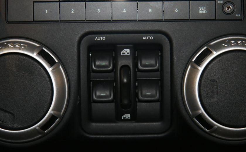 2012 Jeep Wrangler Sahara 4WD AUTO A/C 2TOITS CUIR #9