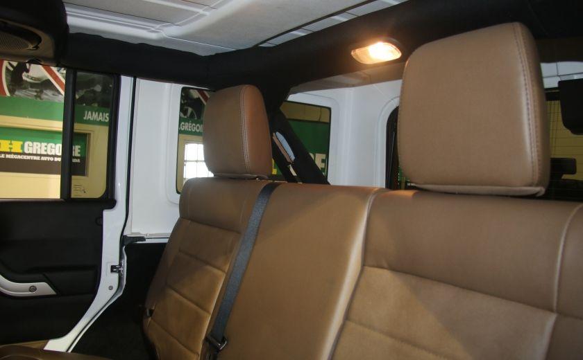 2012 Jeep Wrangler Sahara 4WD AUTO A/C 2TOITS CUIR #12