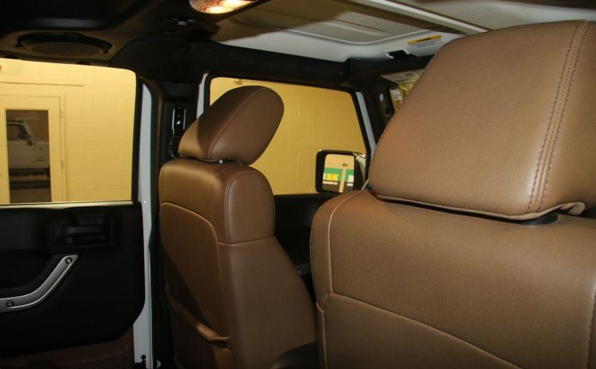 2012 Jeep Wrangler Sahara 4WD AUTO A/C 2TOITS CUIR #13