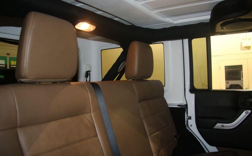 2012 Jeep Wrangler Sahara 4WD AUTO A/C 2TOITS CUIR #14