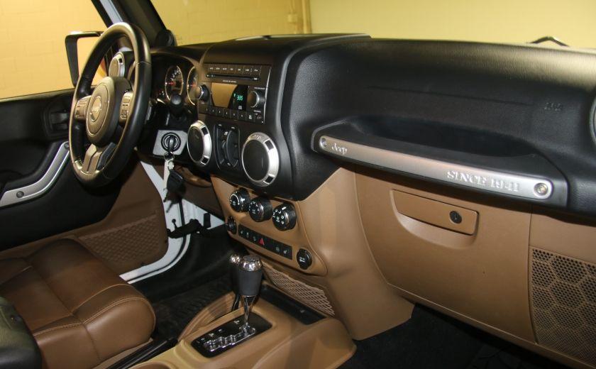 2012 Jeep Wrangler Sahara 4WD AUTO A/C 2TOITS CUIR #15