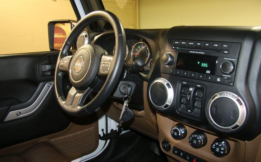 2012 Jeep Wrangler Sahara 4WD AUTO A/C 2TOITS CUIR #16