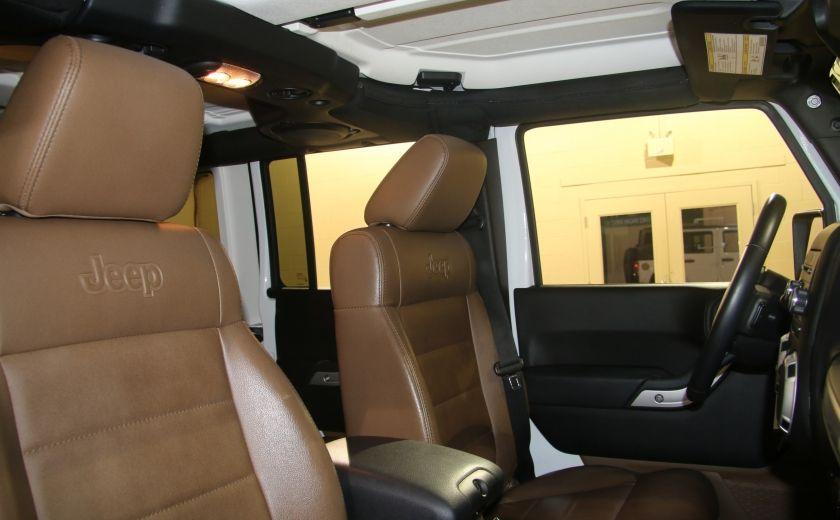 2012 Jeep Wrangler Sahara 4WD AUTO A/C 2TOITS CUIR #17