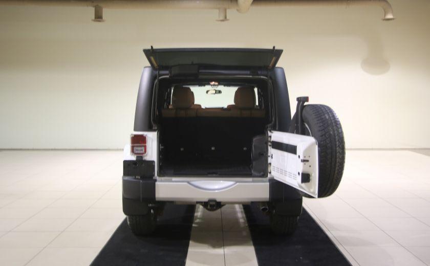 2012 Jeep Wrangler Sahara 4WD AUTO A/C 2TOITS CUIR #20
