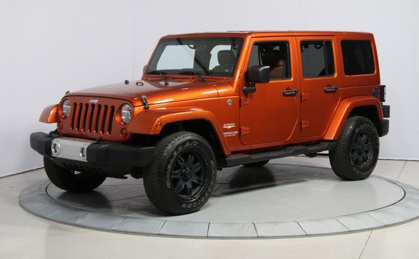 2011 Jeep Wrangler SAHARA 4WD CUIR NAV 2 TOIT #2