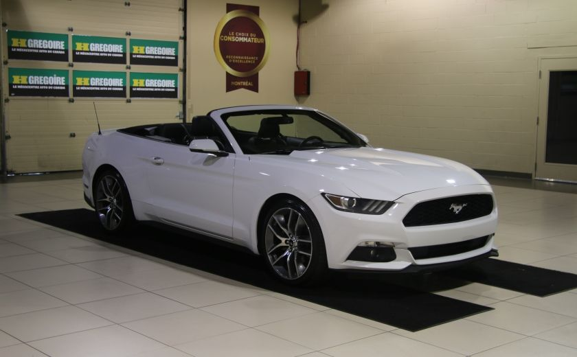 2015 Ford Mustang EcoBoost Premium AUTO A/C CUIR CONVERTIBLE MAGS #0