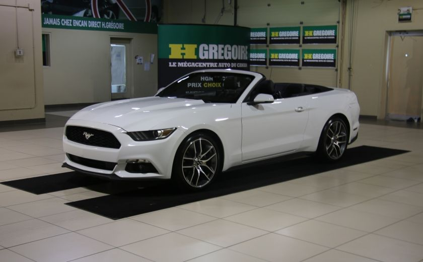 2015 Ford Mustang EcoBoost Premium AUTO A/C CUIR CONVERTIBLE MAGS #2