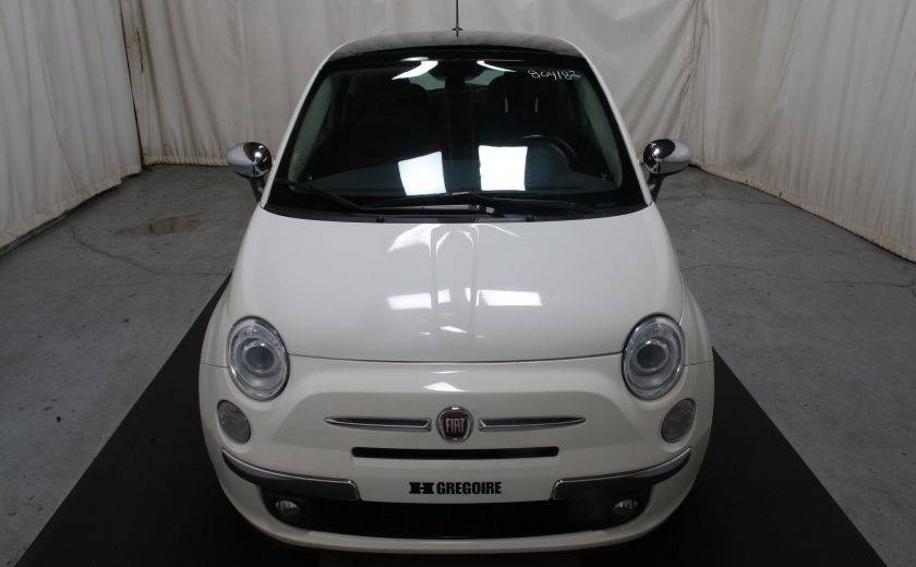 2012 Fiat 500 Lounge A/C CUIR TOIT MAGS BLUETOOTH #1