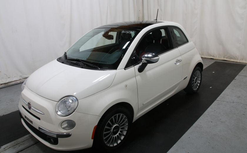 2012 Fiat 500 Lounge A/C CUIR TOIT MAGS BLUETOOTH #2