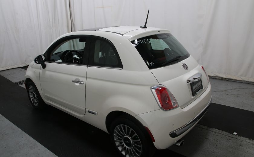 2012 Fiat 500 Lounge A/C CUIR TOIT MAGS BLUETOOTH #3