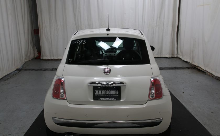 2012 Fiat 500 Lounge A/C CUIR TOIT MAGS BLUETOOTH #4