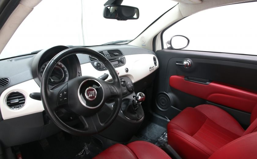 2012 Fiat 500 Lounge A/C CUIR TOIT MAGS BLUETOOTH #8