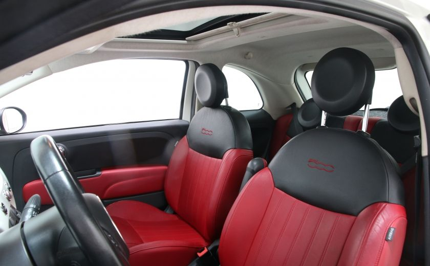 2012 Fiat 500 Lounge A/C CUIR TOIT MAGS BLUETOOTH #9