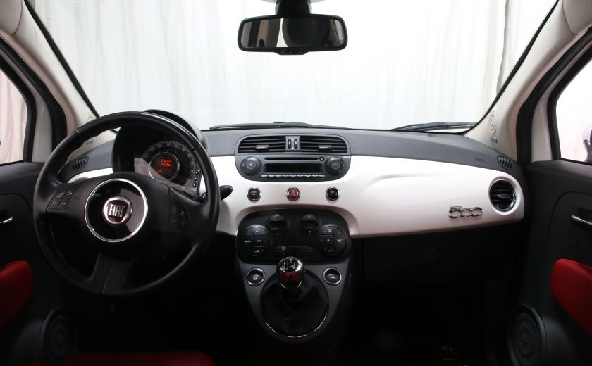 2012 Fiat 500 Lounge A/C CUIR TOIT MAGS BLUETOOTH #10