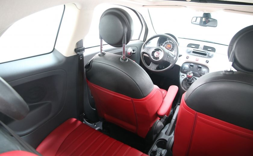 2012 Fiat 500 Lounge A/C CUIR TOIT MAGS BLUETOOTH #16