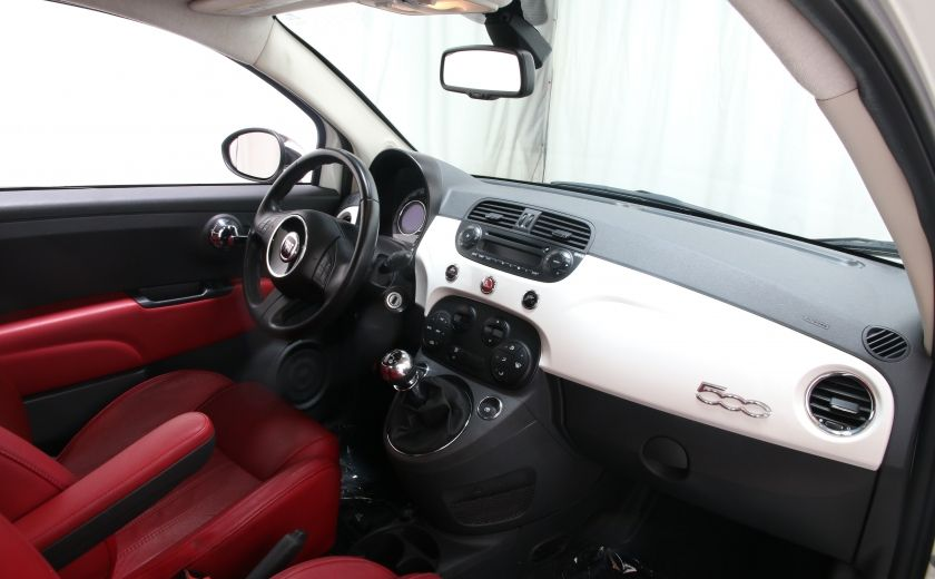 2012 Fiat 500 Lounge A/C CUIR TOIT MAGS BLUETOOTH #18