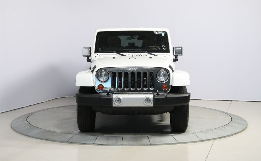 2012 Jeep Wrangler Sahara 4WD AUTO A/C CUIR 2TOITS MAGS #1