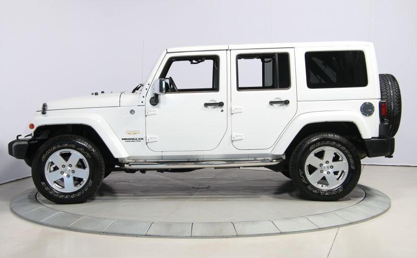 2012 Jeep Wrangler Sahara 4WD AUTO A/C CUIR 2TOITS MAGS #3