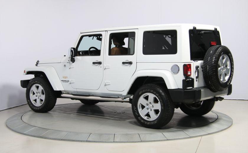 2012 Jeep Wrangler Sahara 4WD AUTO A/C CUIR 2TOITS MAGS #4