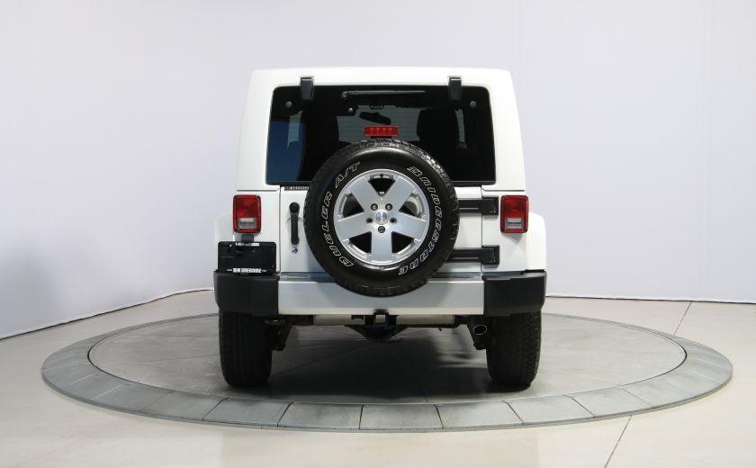 2012 Jeep Wrangler Sahara 4WD AUTO A/C CUIR 2TOITS MAGS #5