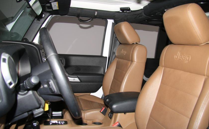 2012 Jeep Wrangler Sahara 4WD AUTO A/C CUIR 2TOITS MAGS #9
