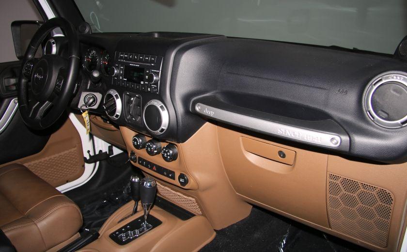 2012 Jeep Wrangler Sahara 4WD AUTO A/C CUIR 2TOITS MAGS #22