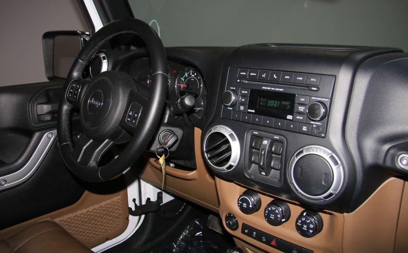 2012 Jeep Wrangler Sahara 4WD AUTO A/C CUIR 2TOITS MAGS #23