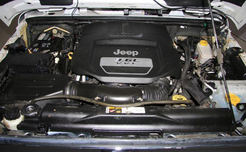 2012 Jeep Wrangler Sahara 4WD AUTO A/C CUIR 2TOITS MAGS #25