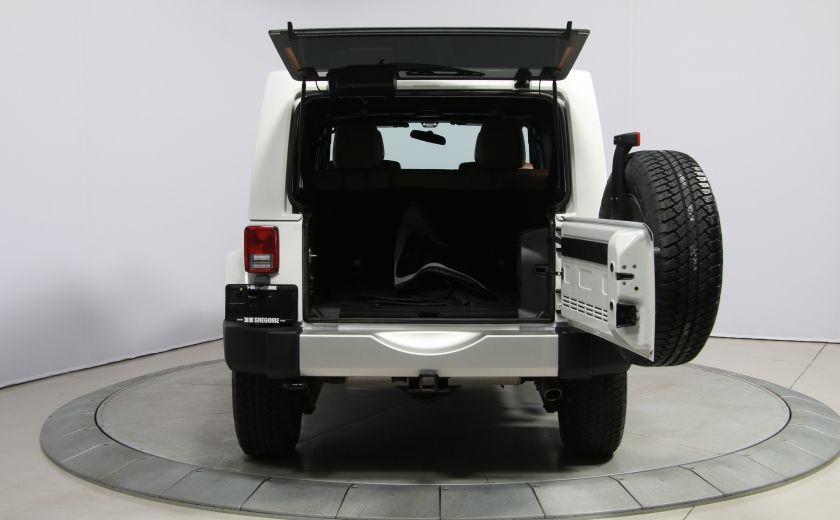 2012 Jeep Wrangler Sahara 4WD AUTO A/C CUIR 2TOITS MAGS #28