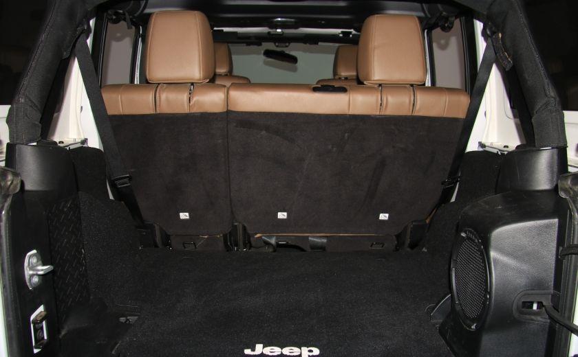 2012 Jeep Wrangler Sahara 4WD AUTO A/C CUIR 2TOITS MAGS #29